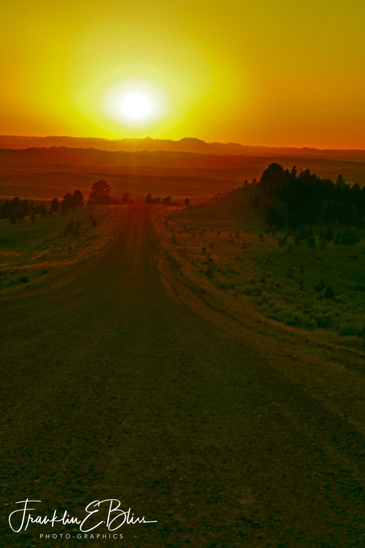 Equinox Road Alignment at Sunset