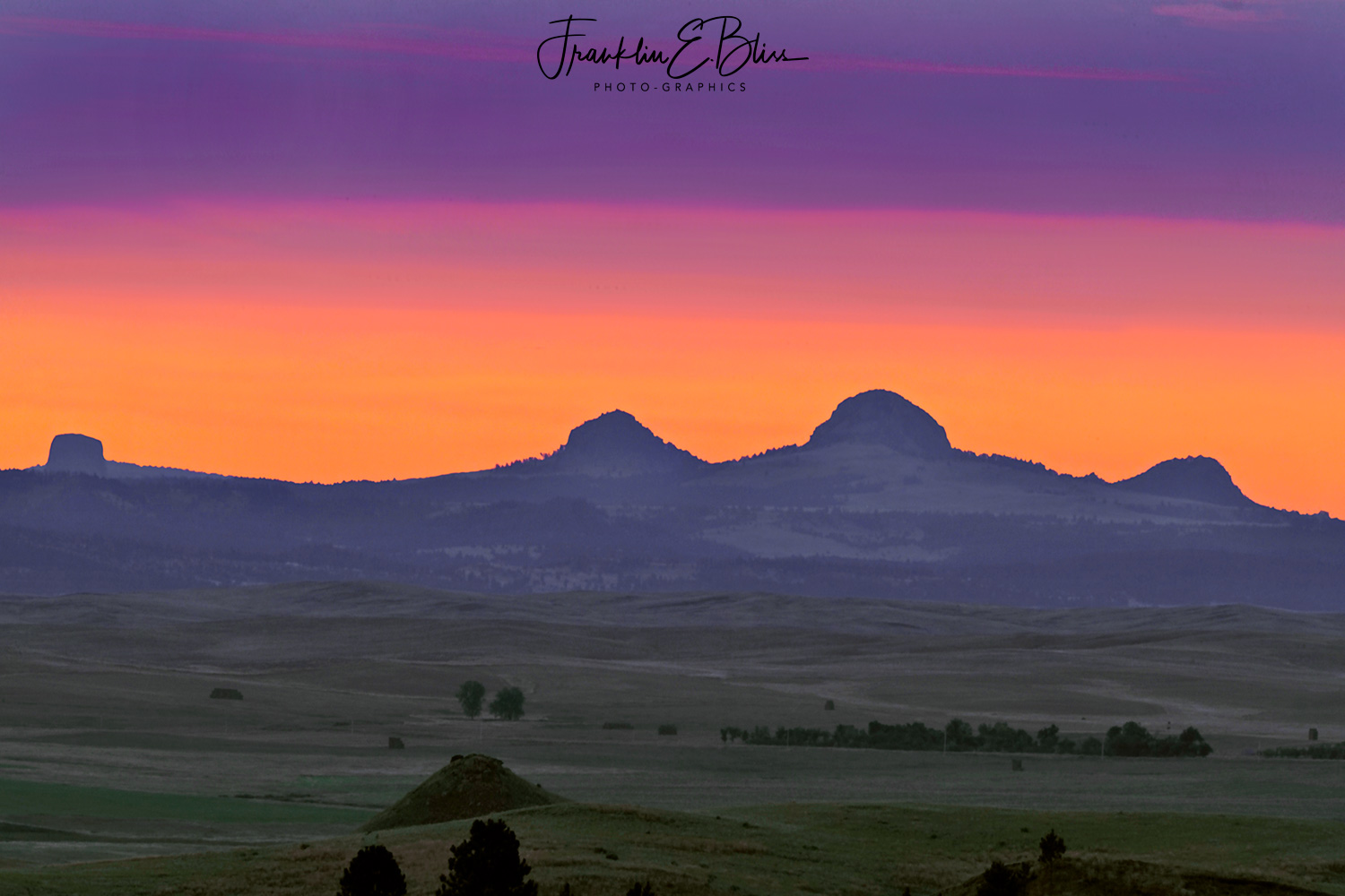 Devils Tower/Missouri Butte Volcanic Complex in Twilight