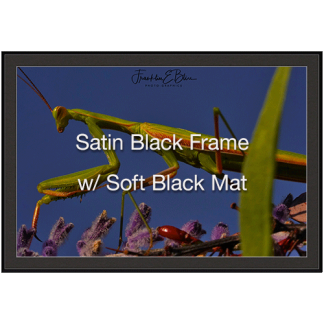 Satin Black Metal Frame Soft Black Mat