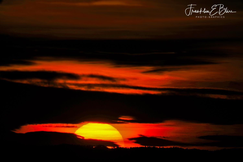 Sunset on a 40 Mile Distant Ridge