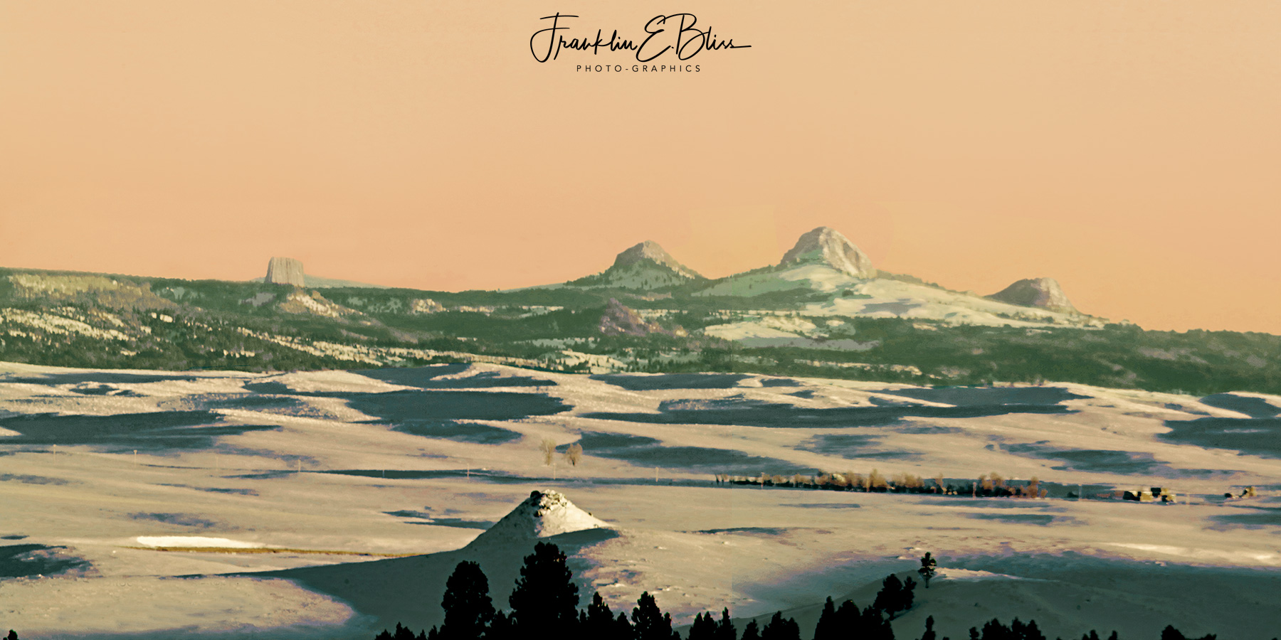 """Devil's Tower and The """"Three Sisters"""" Deep in Winter"""