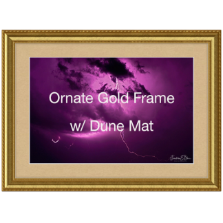 Ornate Gold Wood Frame with Dune Mat
