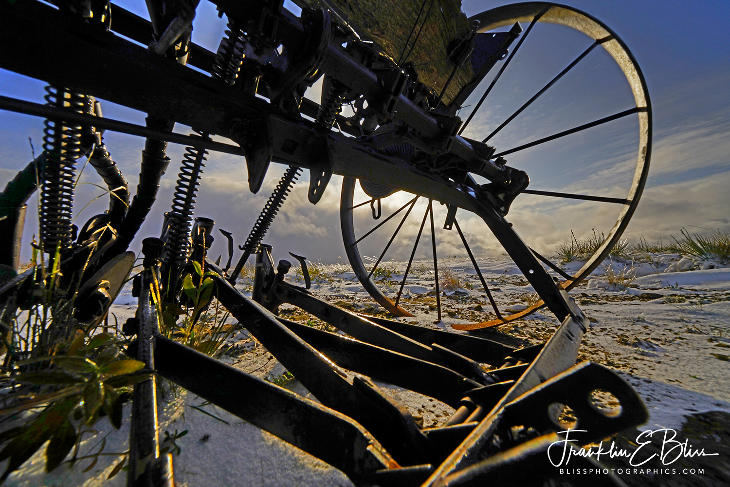 Perspective Snowy Seeder Sunset