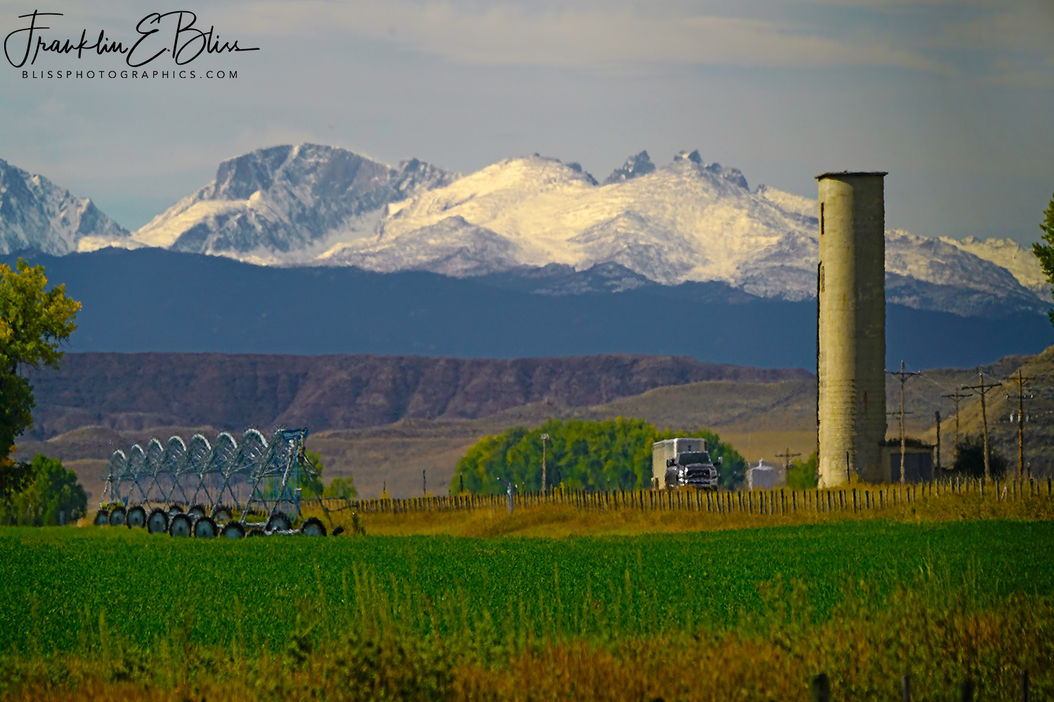 Big Horn Mountains From Near Clearmont Wyoming