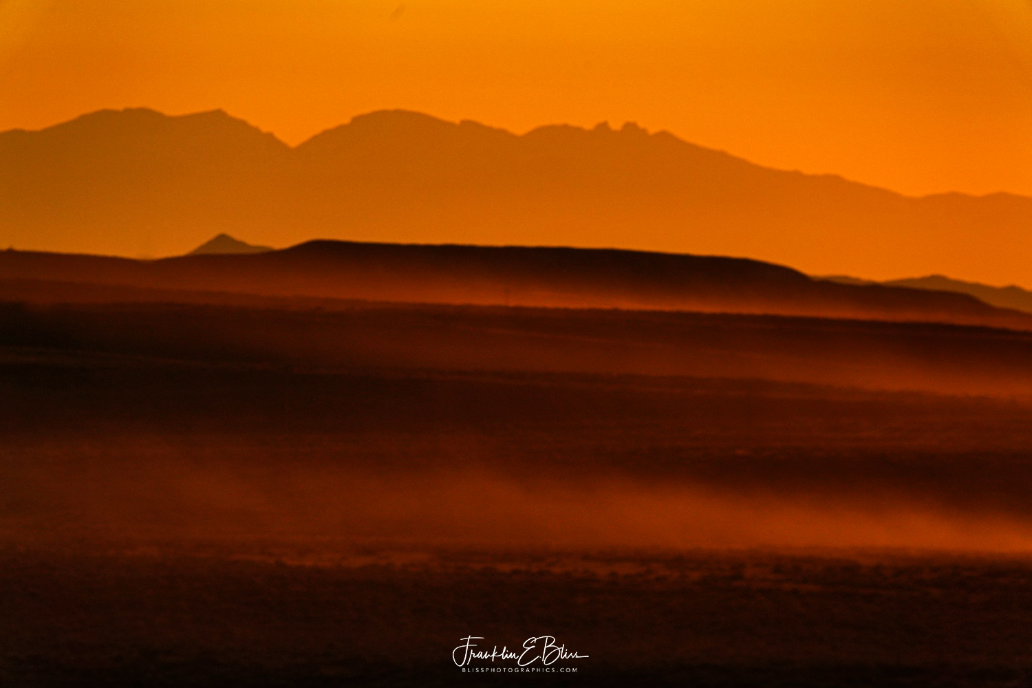 Big Horn Mountains Dusty Sunset