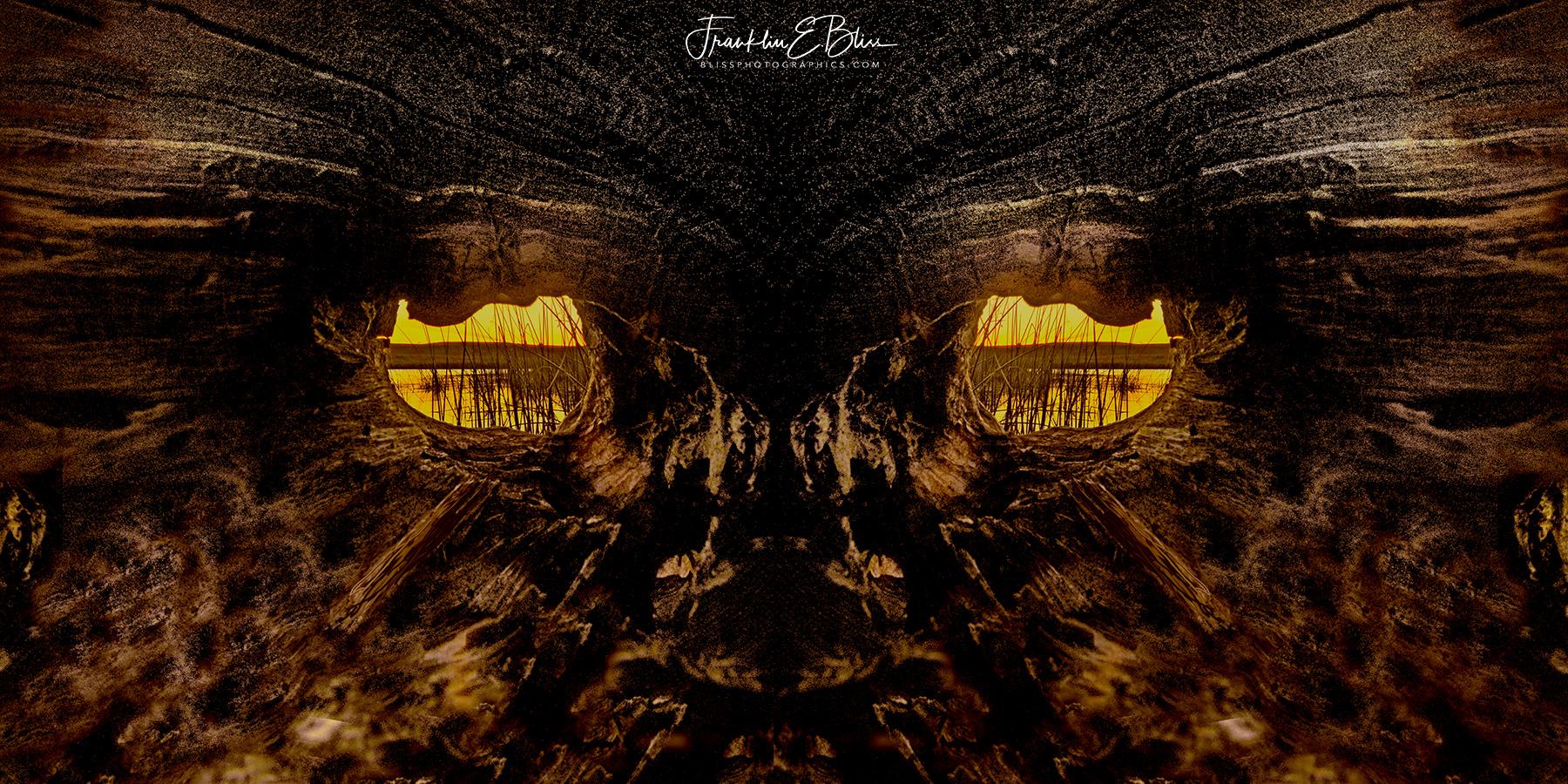 Sunrise Through the Knot Hole Mask (ART)
