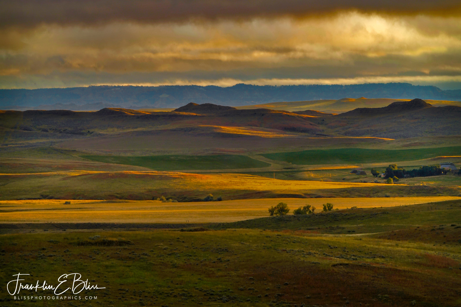 Autumn Landscape in the Borderlands of Wyoming:Montana