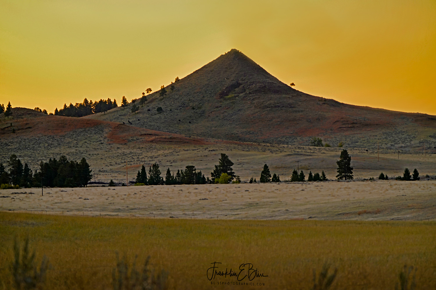 Mitten Butte Alpenglow Twilight on a Frosty Morning