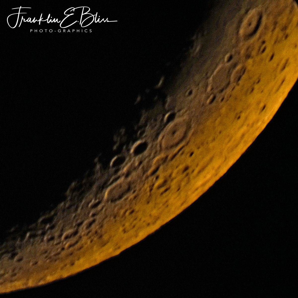 1/4th of a Crescent Moon @ 6400mm
