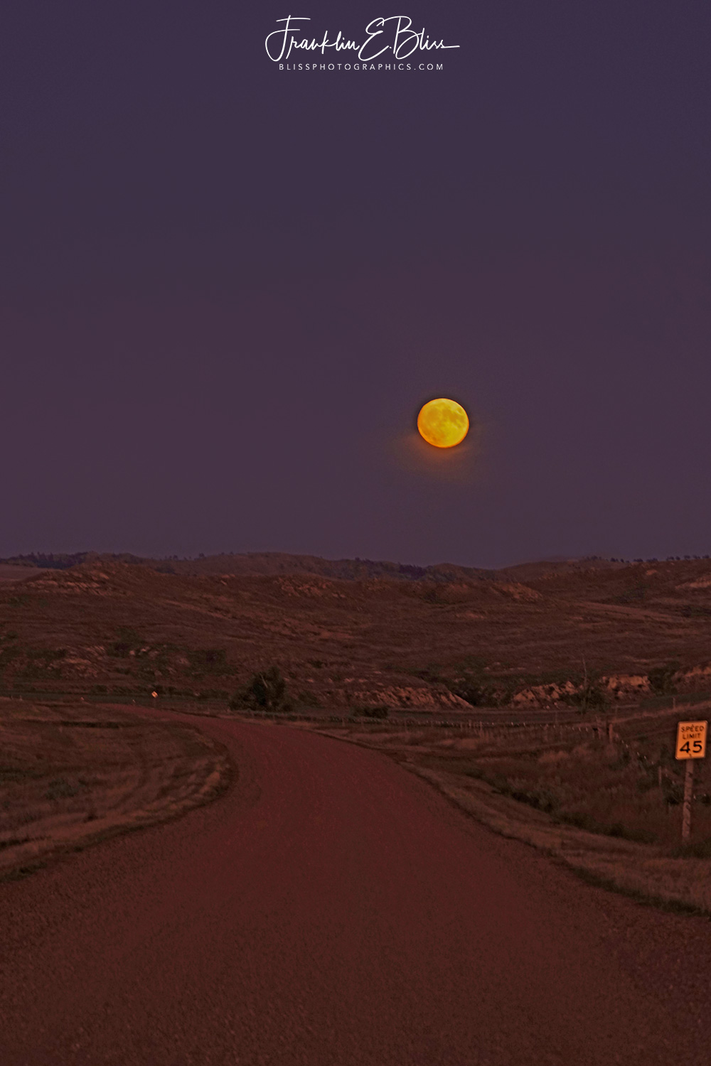 Moon Rise over Trail Creek Road