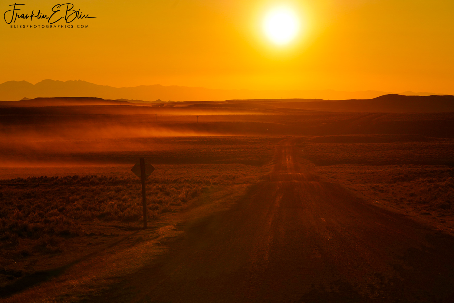 Back Country Gravel Travel Sunset over the Big Horn Mountains