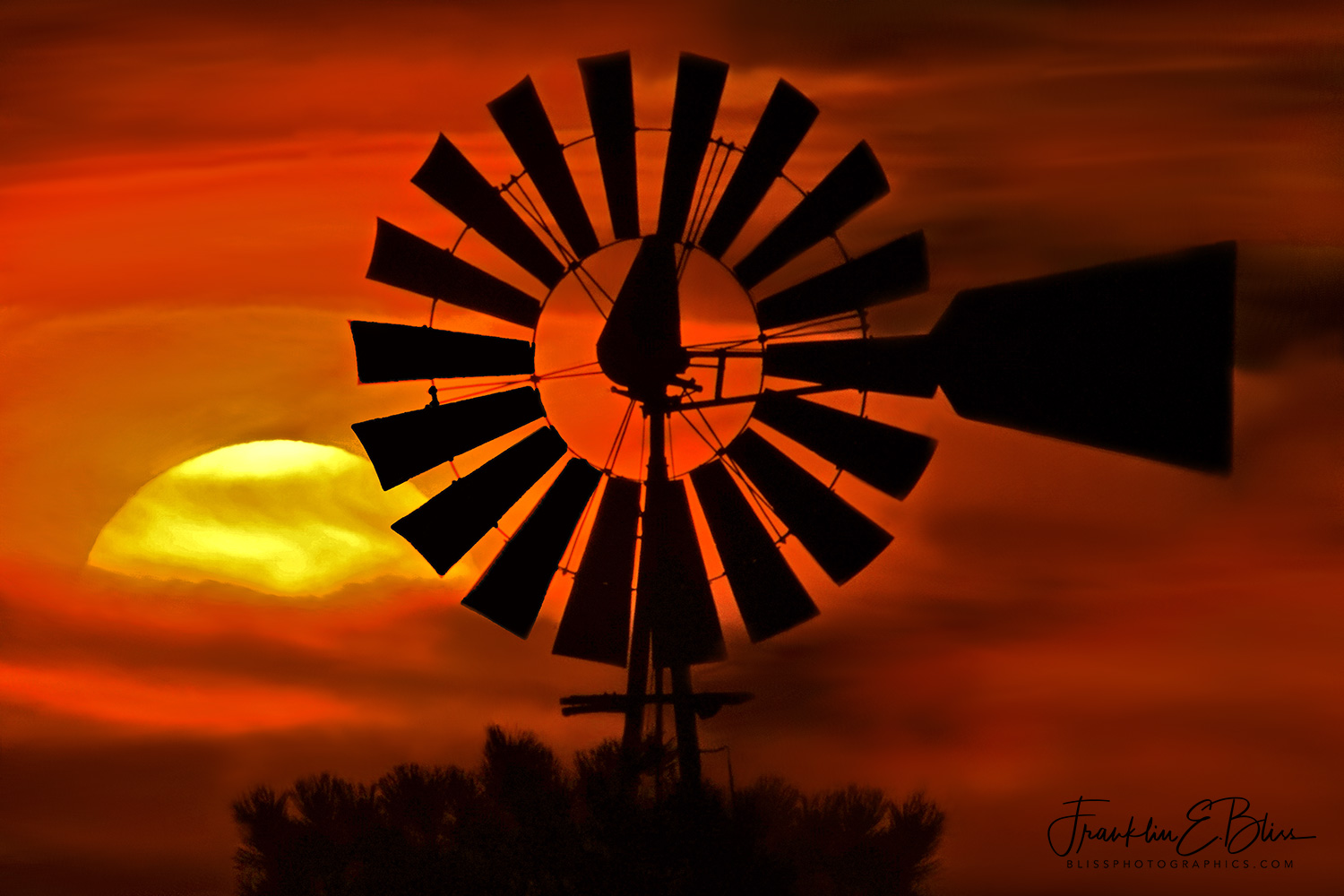 Sunset Seen Yet Again by This 100 Year Old Windmill
