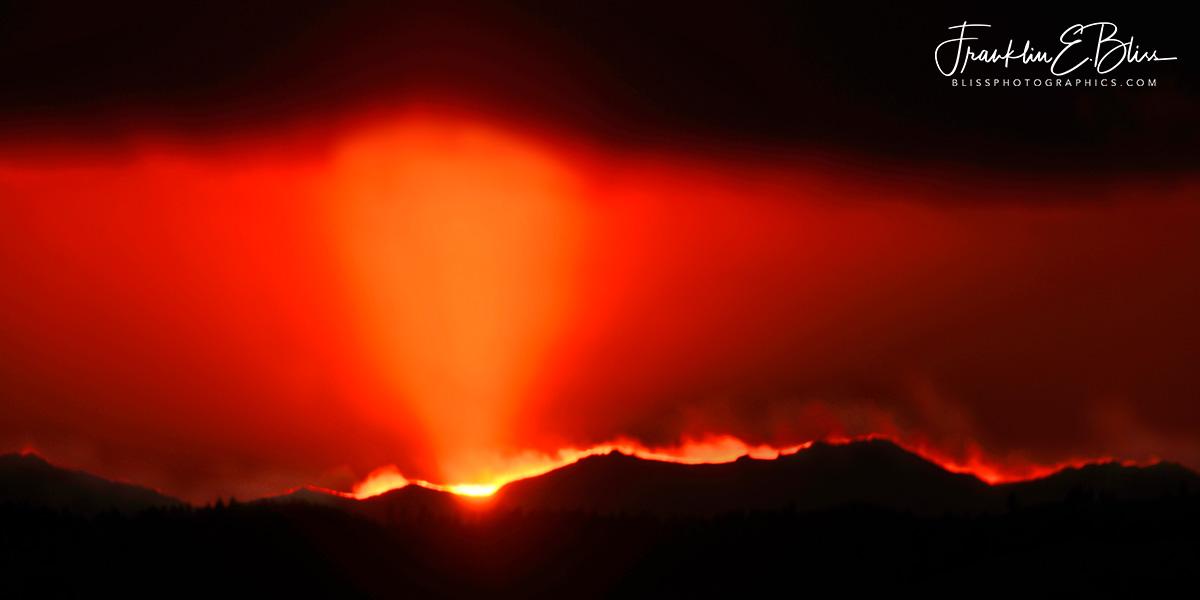 Sun Pillar over the BigHorns
