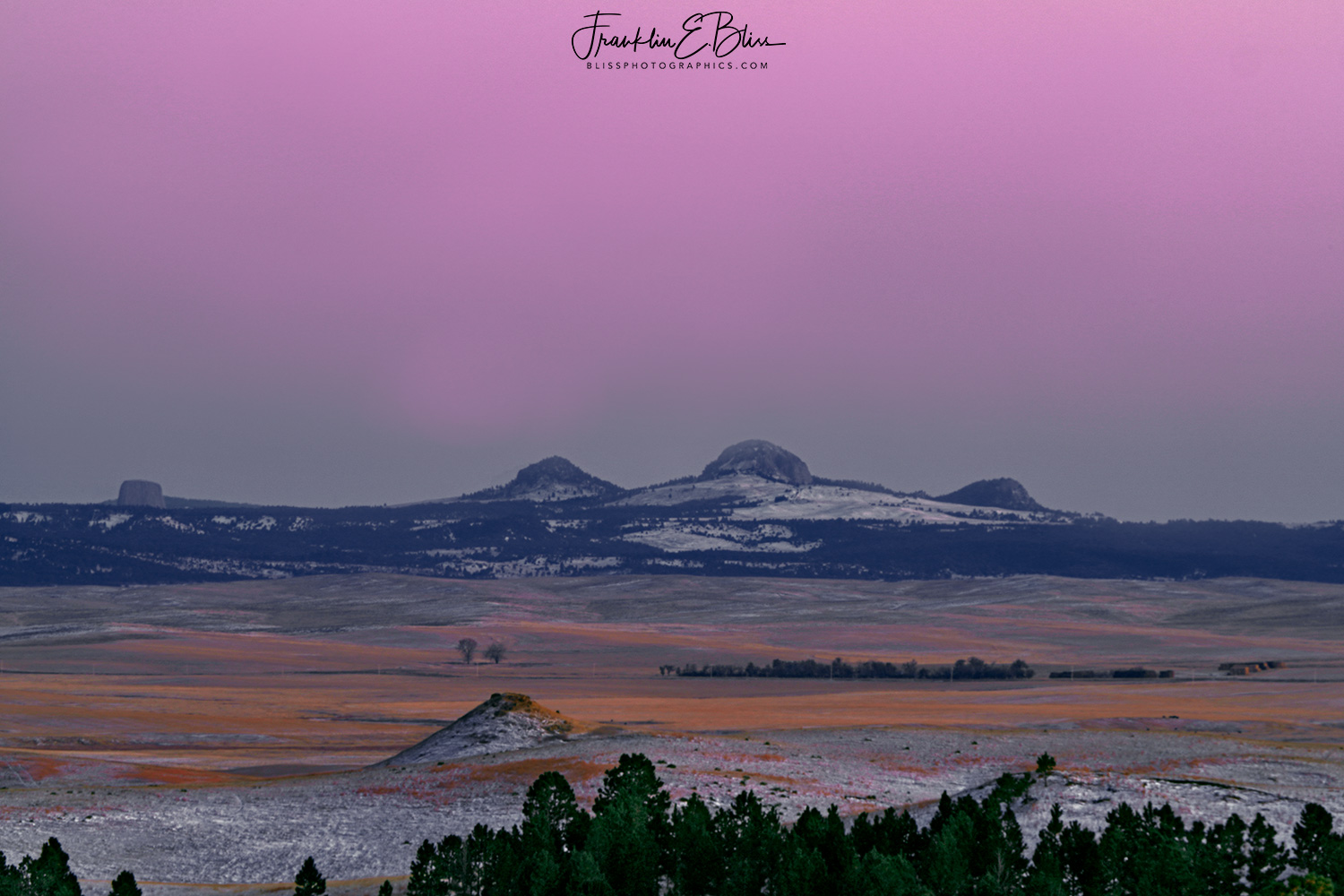 """Belt of Venus"" NE Wyoming"