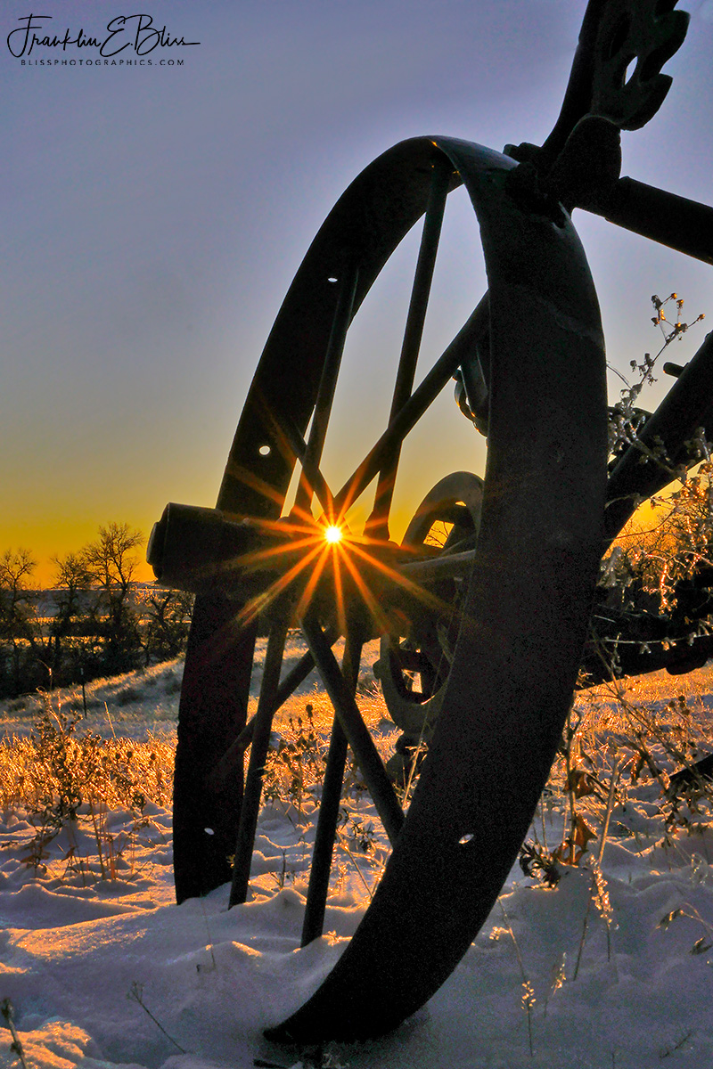 Sunset and the Steel Wheel