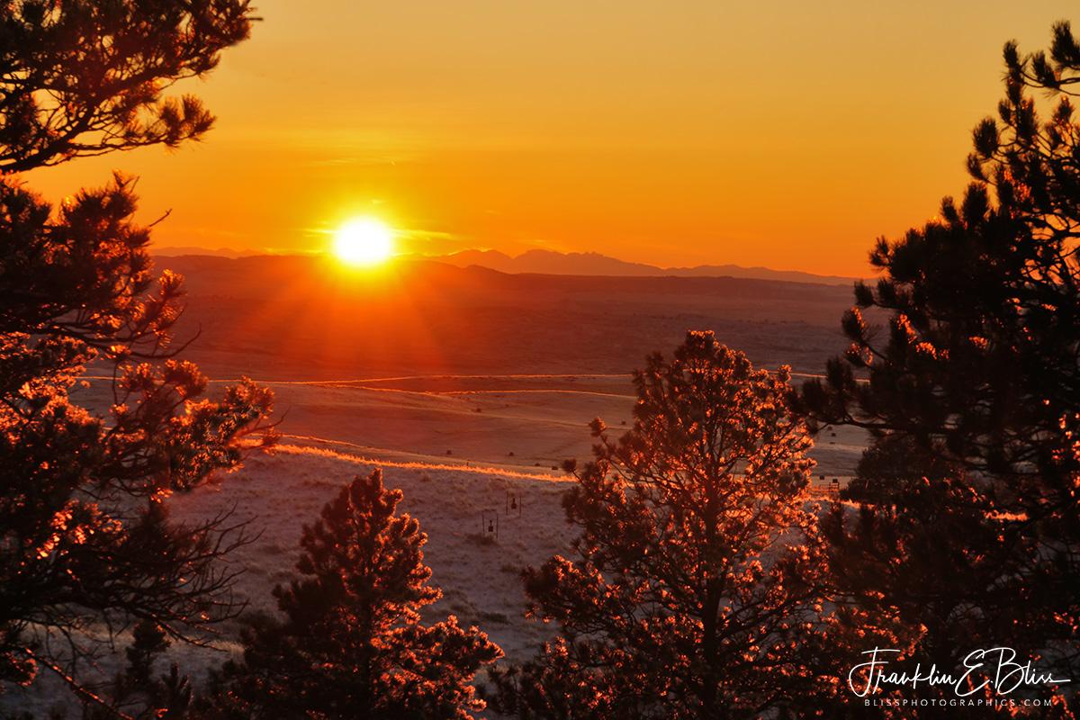 Golden Hour Sunset on Snow