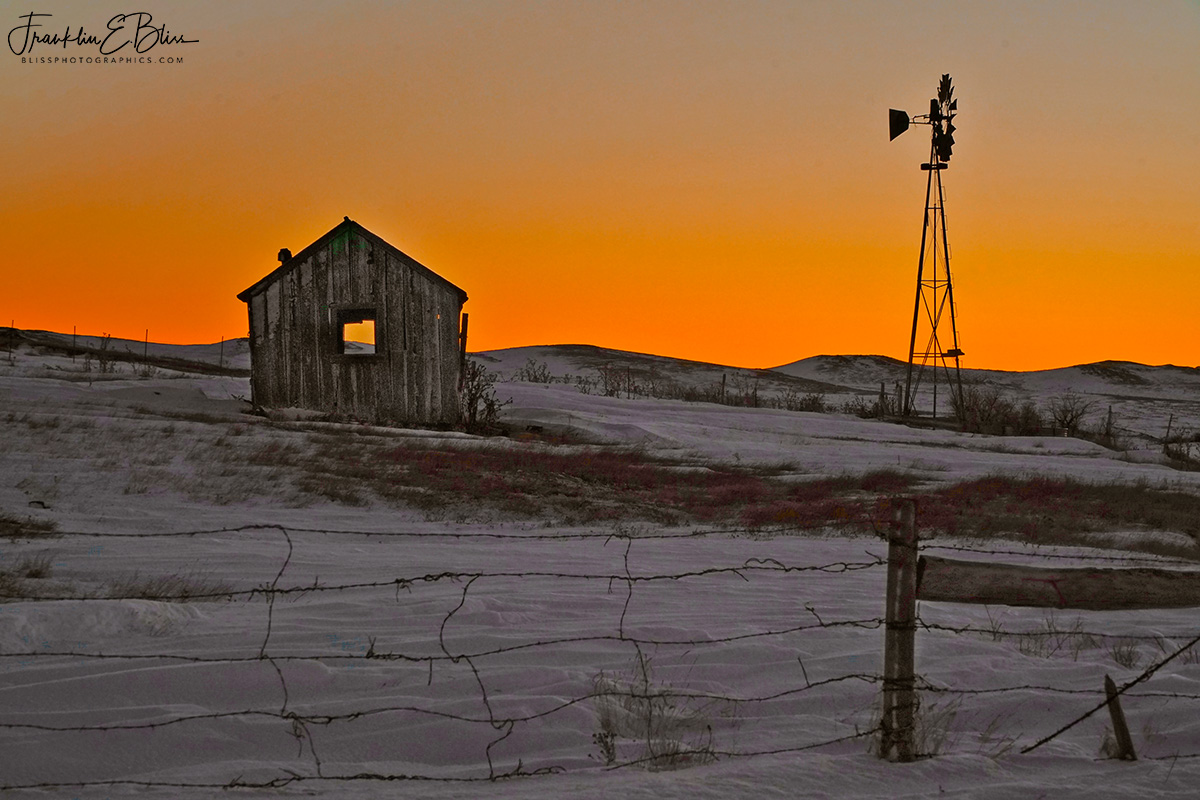 Windmill Shack Orange Alpenglow