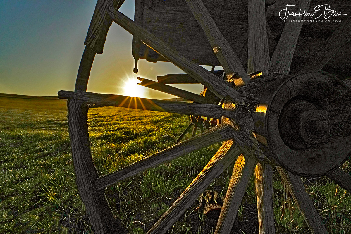 Sunset Through the Wheel