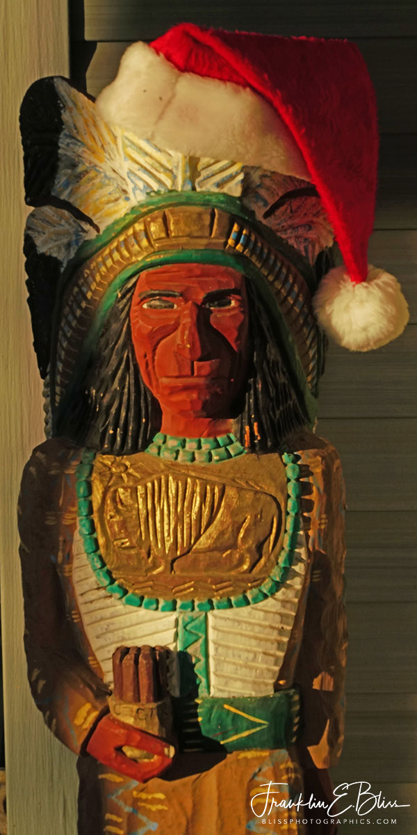 Cigar Store Indian Christmas
