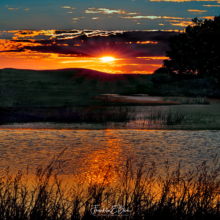 Reflections: Sunset over Wetlands