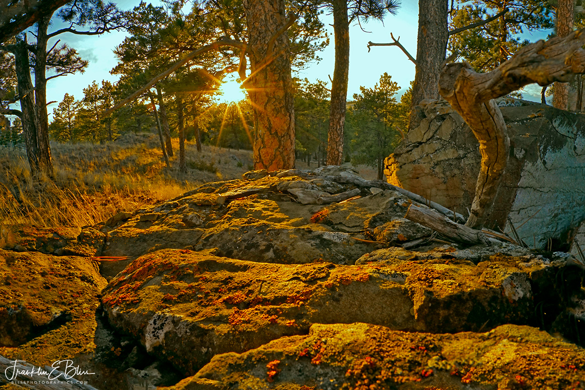 Sunset over the Boulders