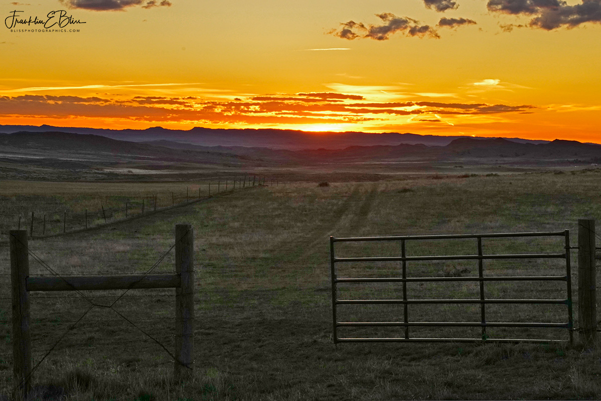 Sunset Open Gate