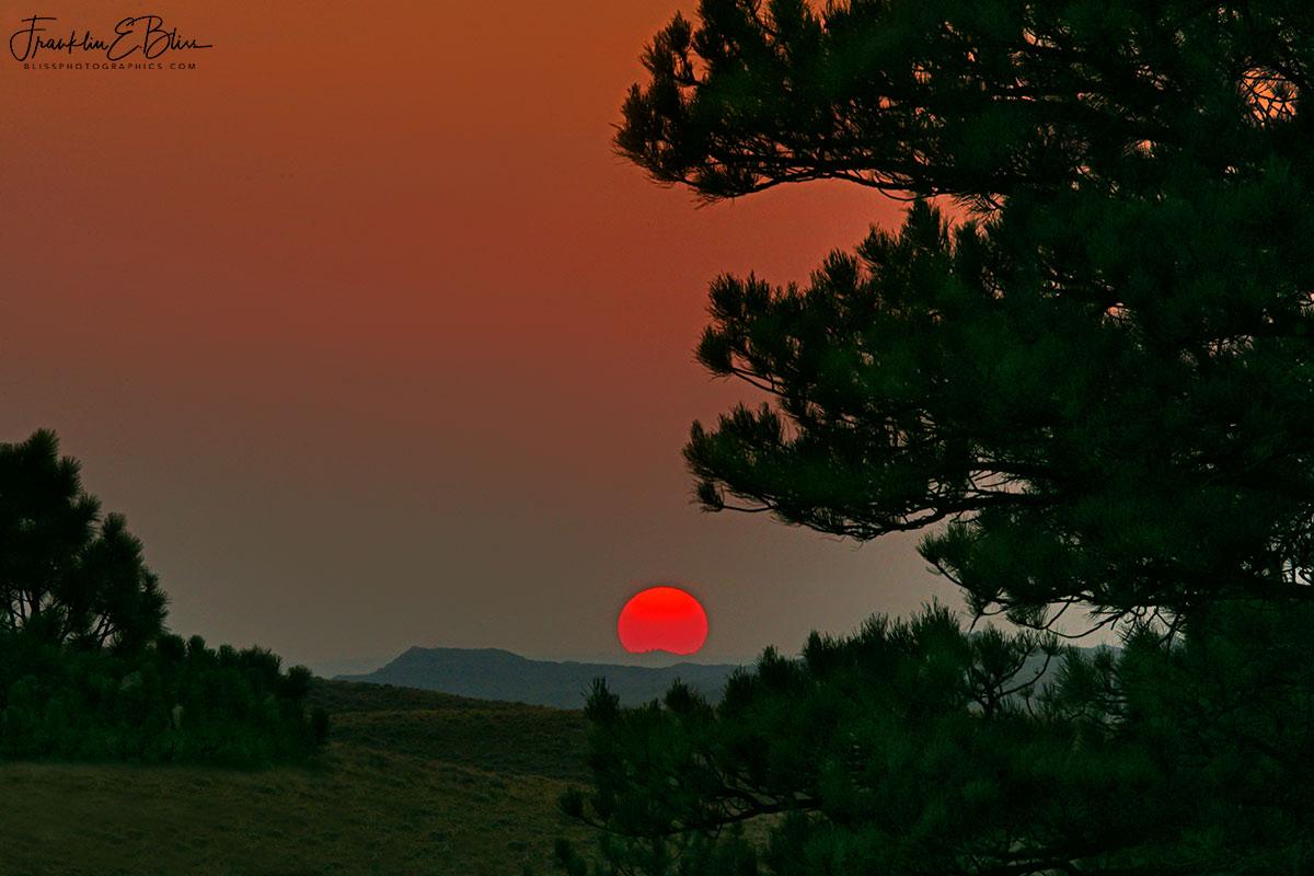 Smokey Summer Sunset