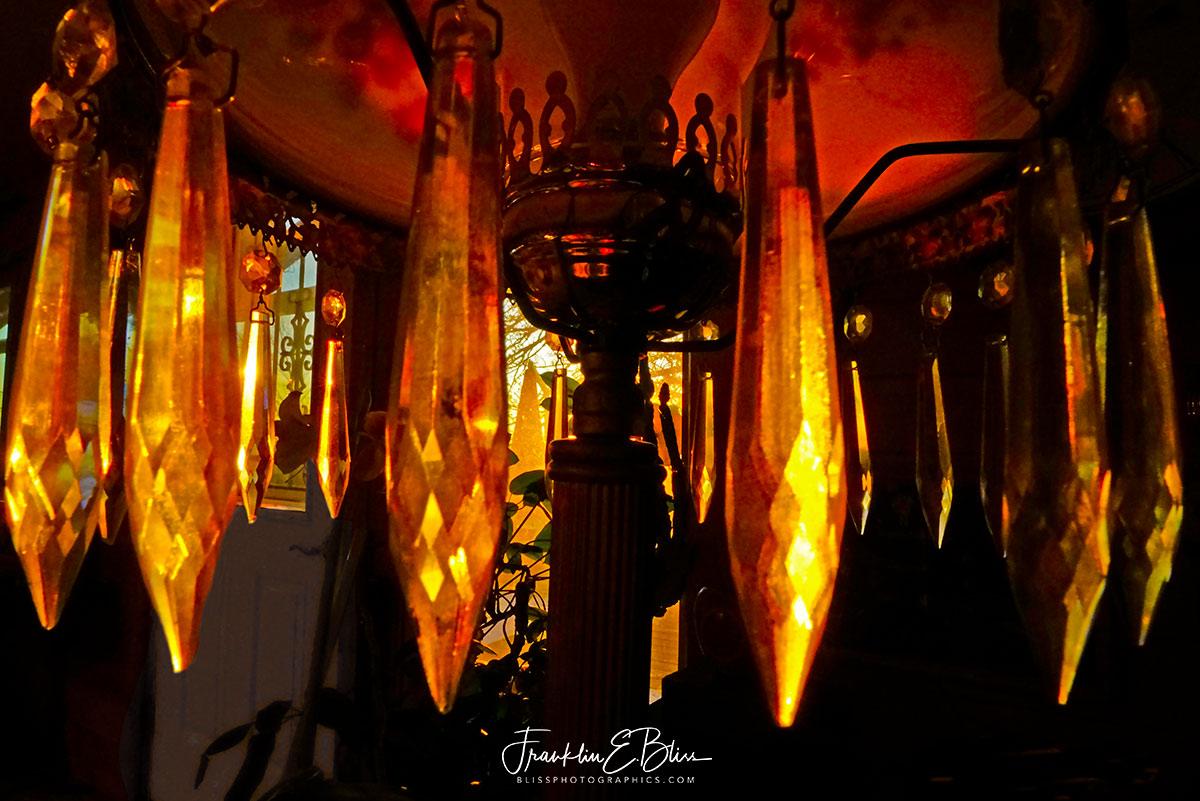 Antique Lamp Shade Spotlit