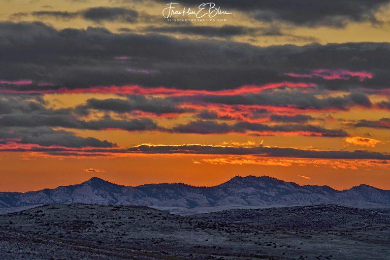 """Snowy """"Red Hills"""" Twilight 011320J"""
