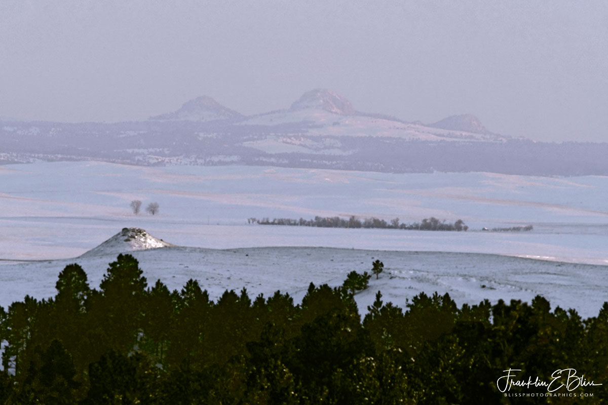 Snow Storm Missouri Buttes