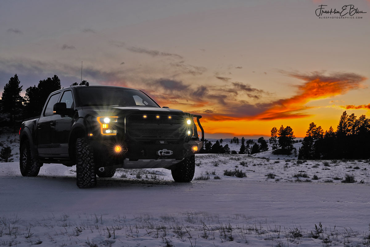 Ford Raptor Backcountry Sunset