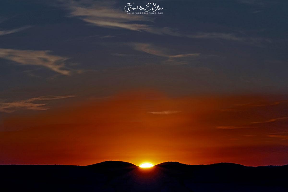 Sunset Waves Across the Horizon