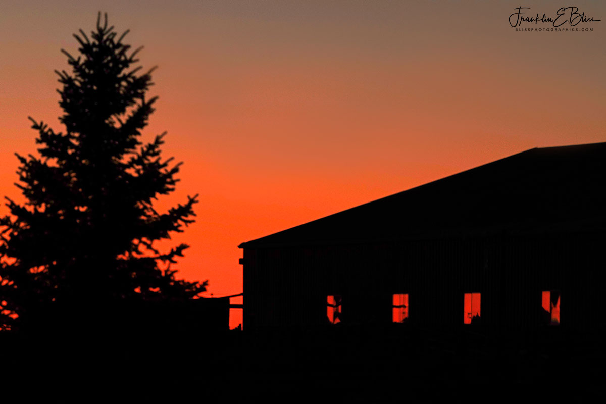 Twilight Over Roping Barn