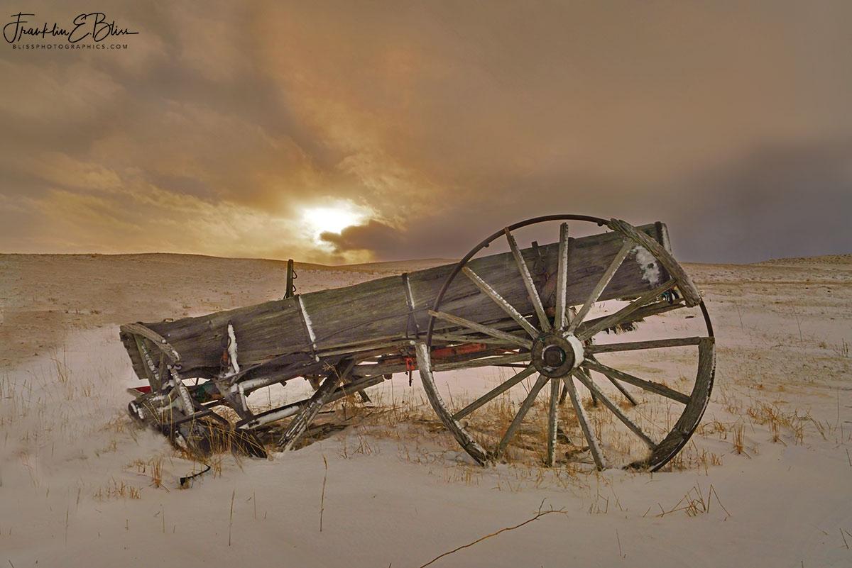 Wagon Box Full of Sunset