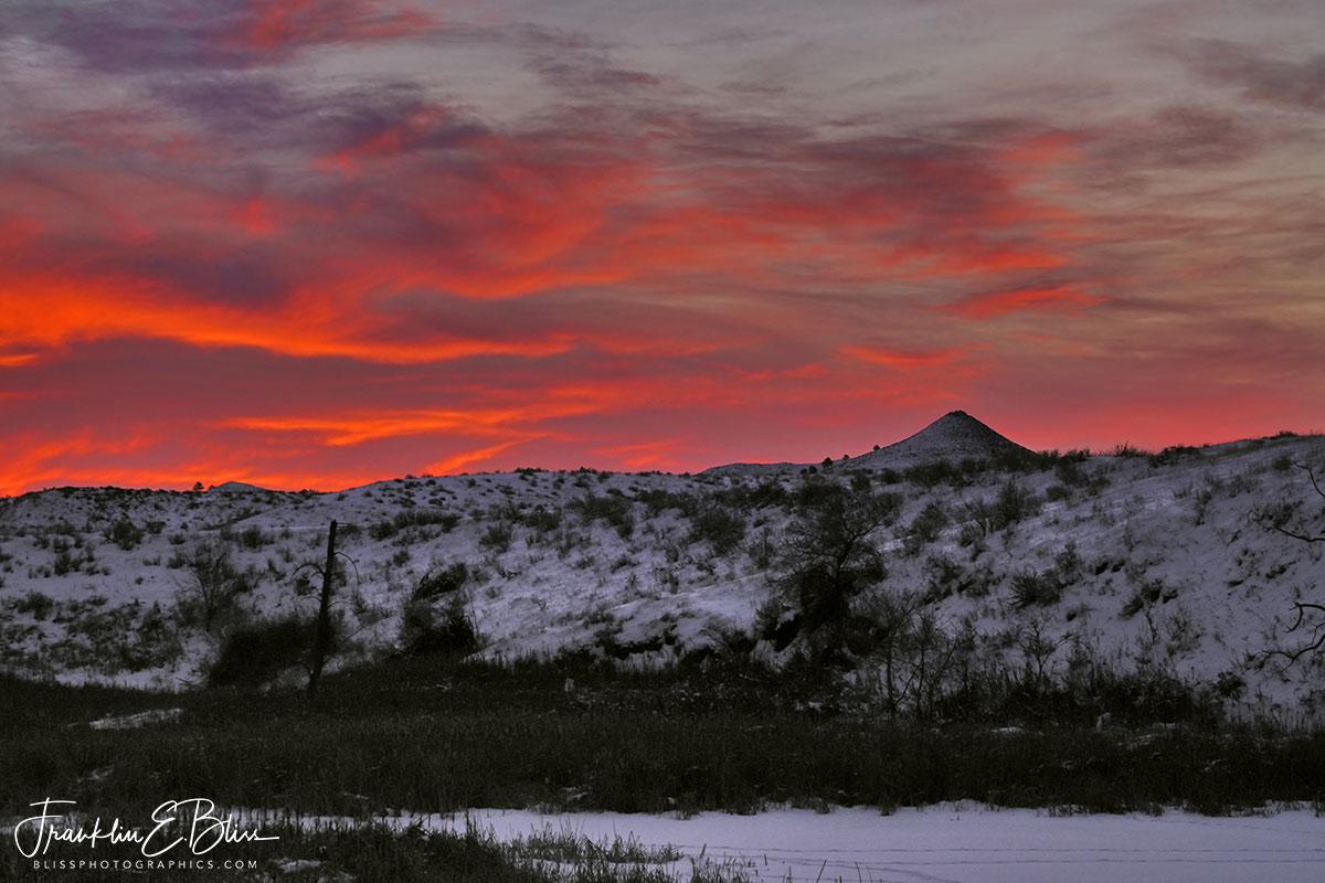 Wetlands Under Crimson Twilight