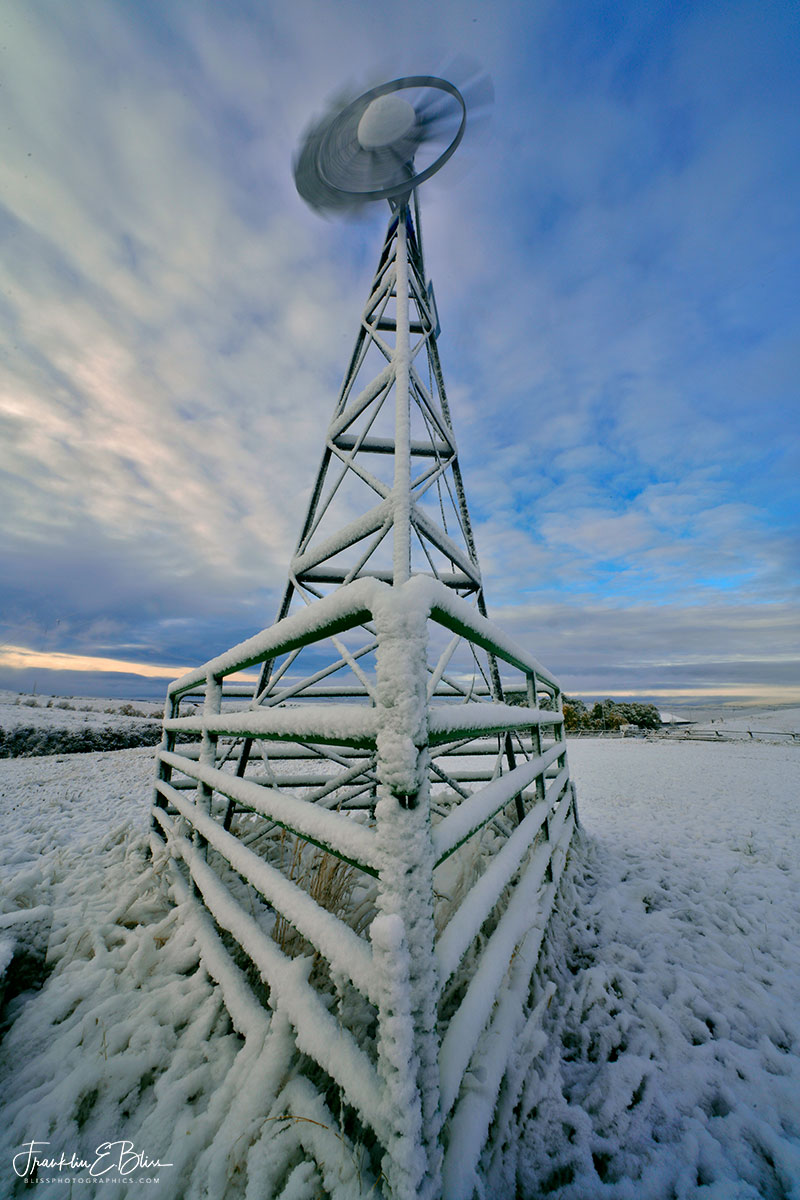 White Windmill Winter Wonderland