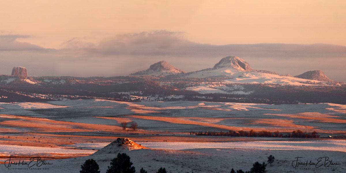 Wyoming Volcanic Necks Diptych
