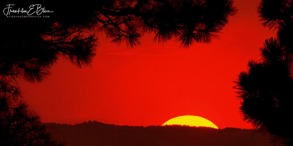 Crimson Alpenglow Sunrise