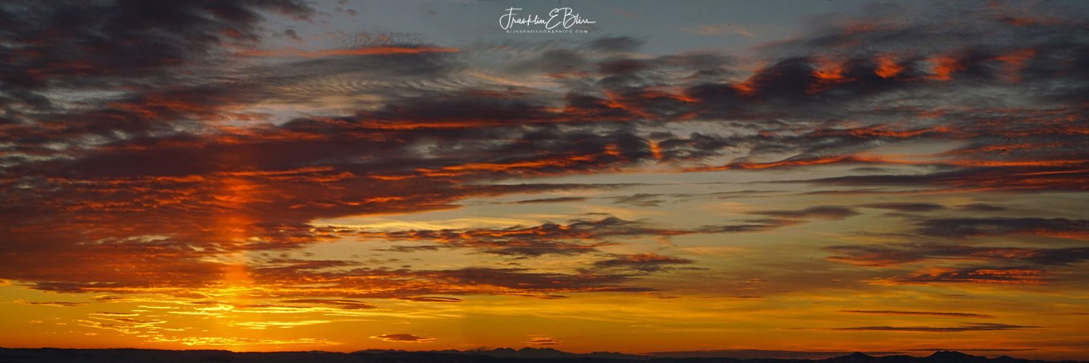 Sunset Pillar Skyshow Triptych