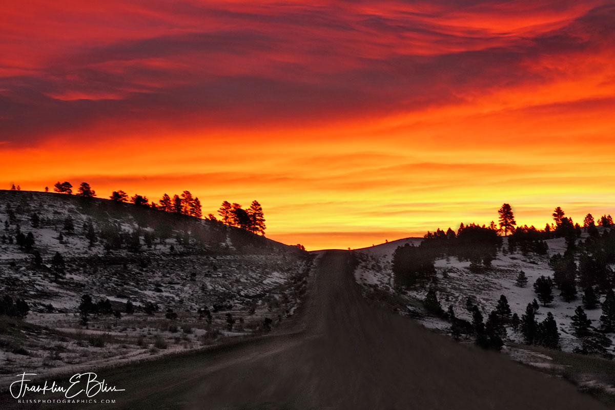 Crimson Sunrise Mountain Pass