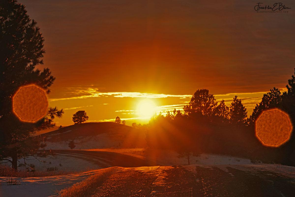 Sun Flare Flanking Sunrise