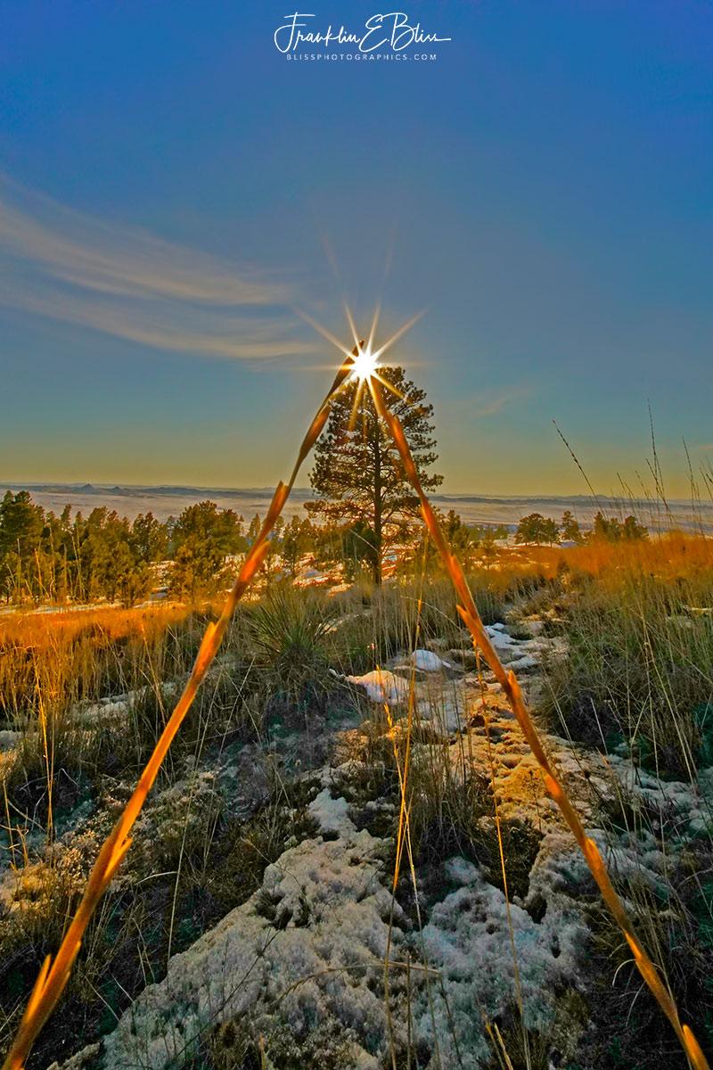 Golden Triangle Frame Sunset