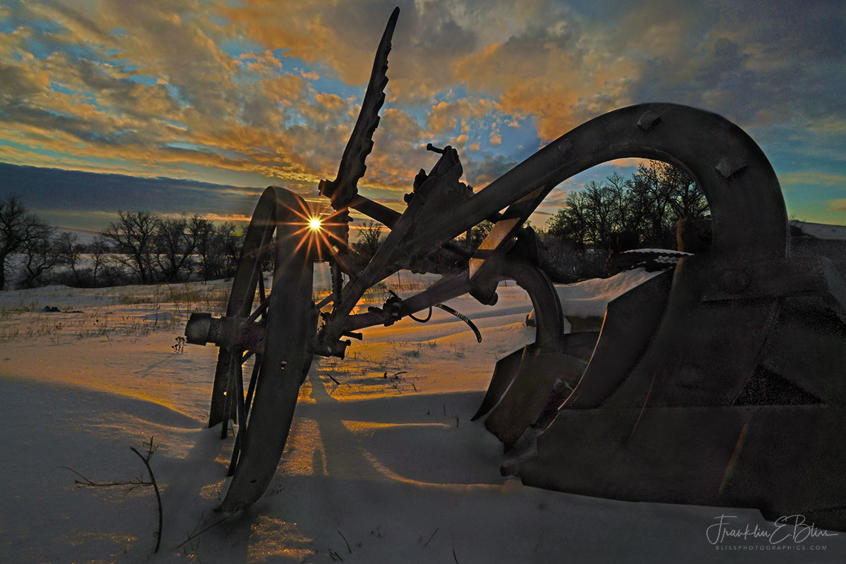 Antique Plows View of Sunset