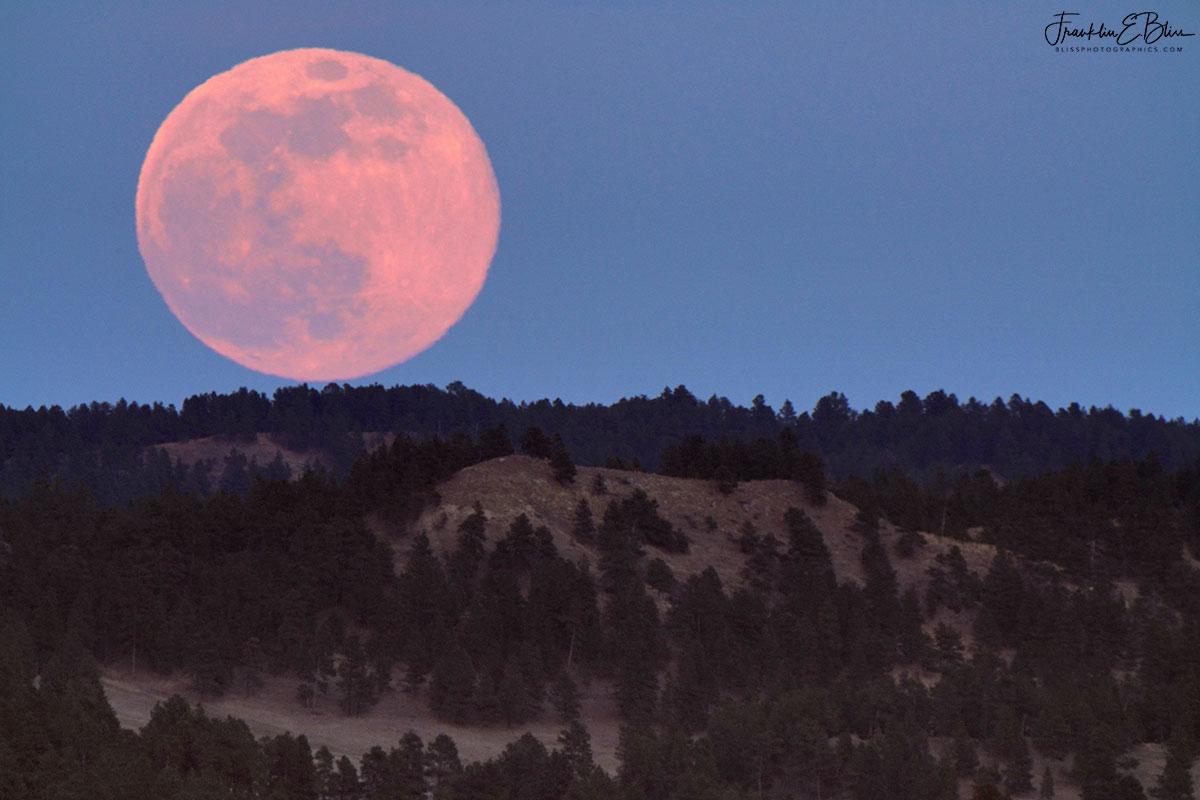 Rising Backcountry April Moon