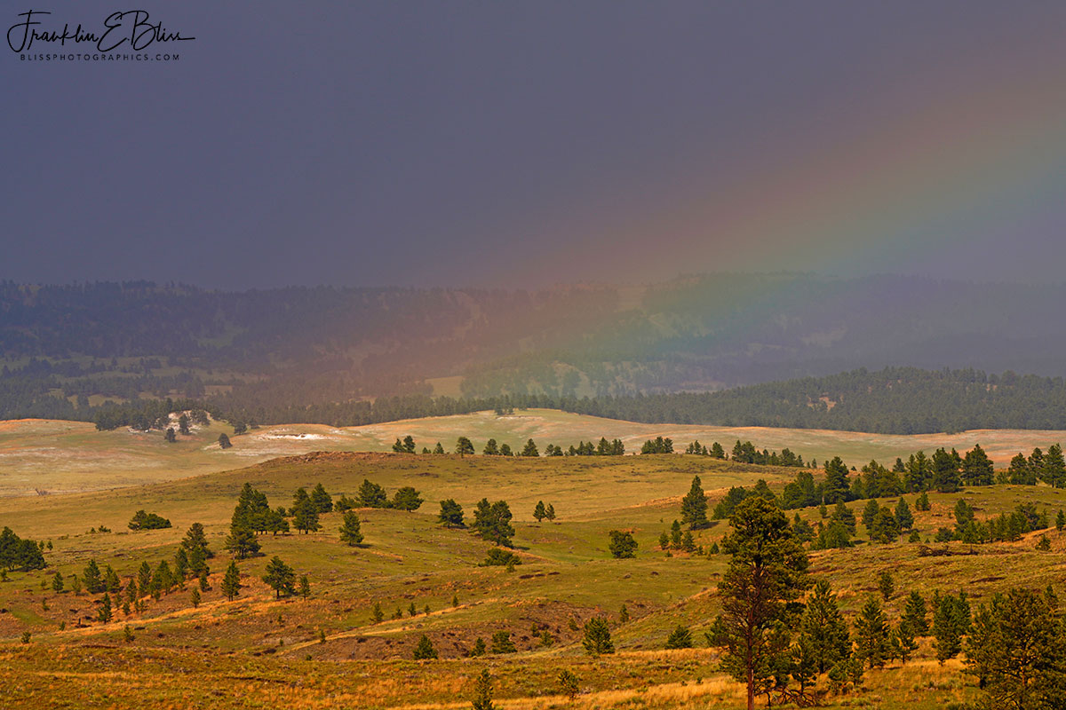Backcountry Rainbow Hail Drifts