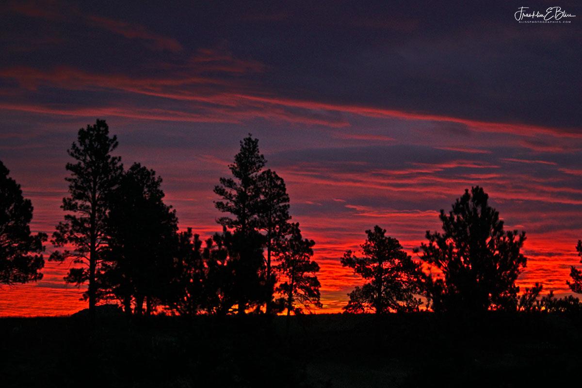 Early Twilight Crimson Skyline