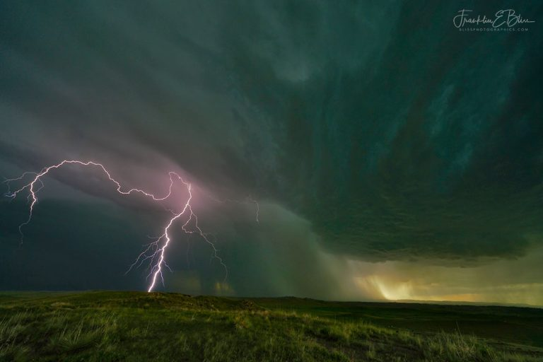 Lighting Under a Mesocyclone 062720E