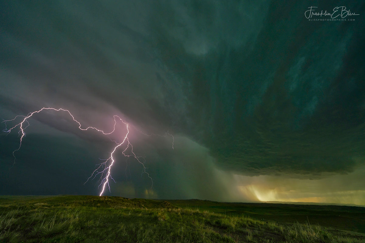 Lighting Under a Mesocyclone