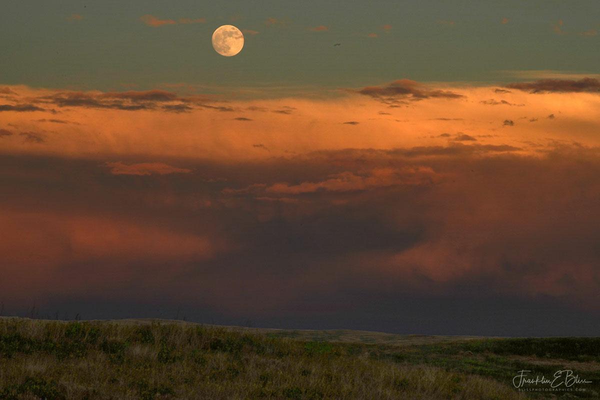 Moon over Massive Mesocyclone