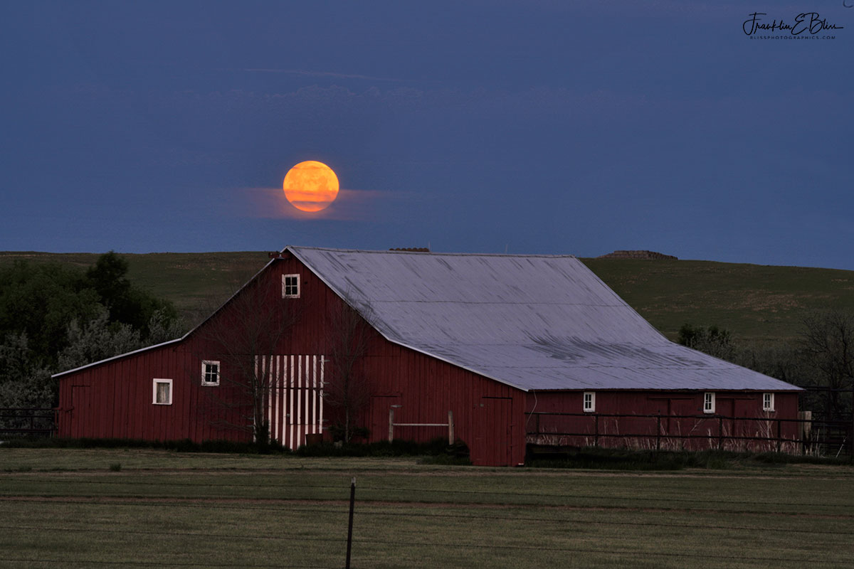 Red Barn Strawberry Moon